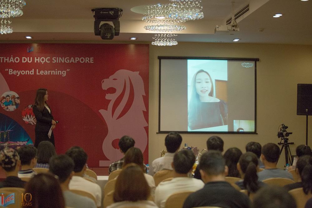 Du học sinh Phùng Lương chia sẻ trực tuyến