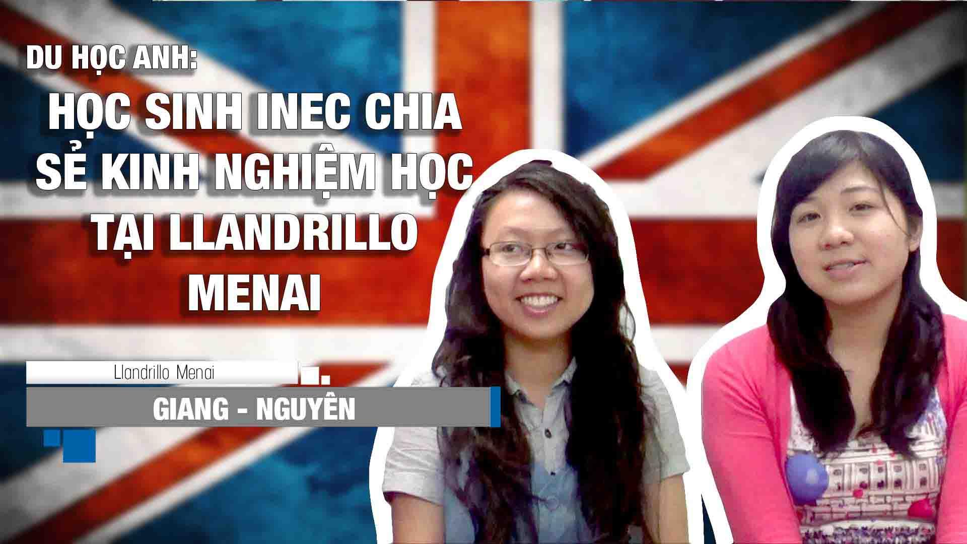Hai bạn Giang và Nguyên đã có thời gian học tập tại trường Cao đẳng Llandrillo Menai. Video chia sẻ về kinh nghiệm học tập cũng như môi trường học tại Anh Quốc.