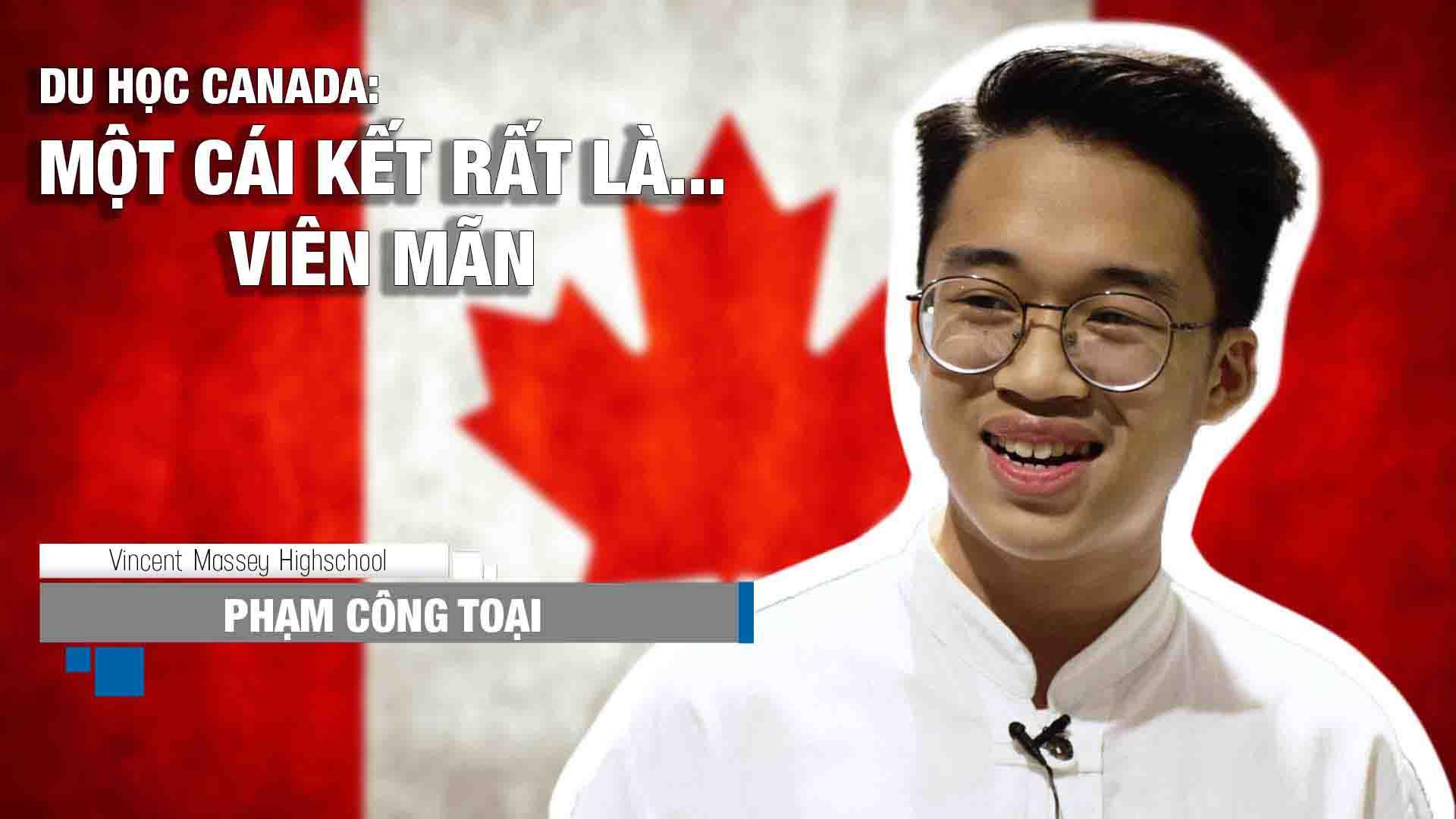 """Chia sẻ về hành trình du học Canada cũng như bí quyết học tiếng Anh của bạn Phạm Công Toại (sắp tới sẽ theo học lớp 11 tại trường Vincent Massey Highshool, bang Manitoba): """"Em làm hồ sơ Canada cũng lâu rồi, vì em có khá nhiều lựa chọn. Nhưng cuối cùng em đã chọn đúng công ty, đúng nơi mình đến và đã rất may mắn thành công.""""  Theo chia sẻ của Toại, bạn đã có 6 tháng chuẩn bị hồ sơ và xin visa Canada. Tự nhận mình là một người vô cùng """"kén cá chọn canh"""" nhưng khi làm việc với INEC, bạn đã vô cùng hài lòng về cách làm việc và sự tận tâm của đội ngũ tư vấn viên của công ty."""