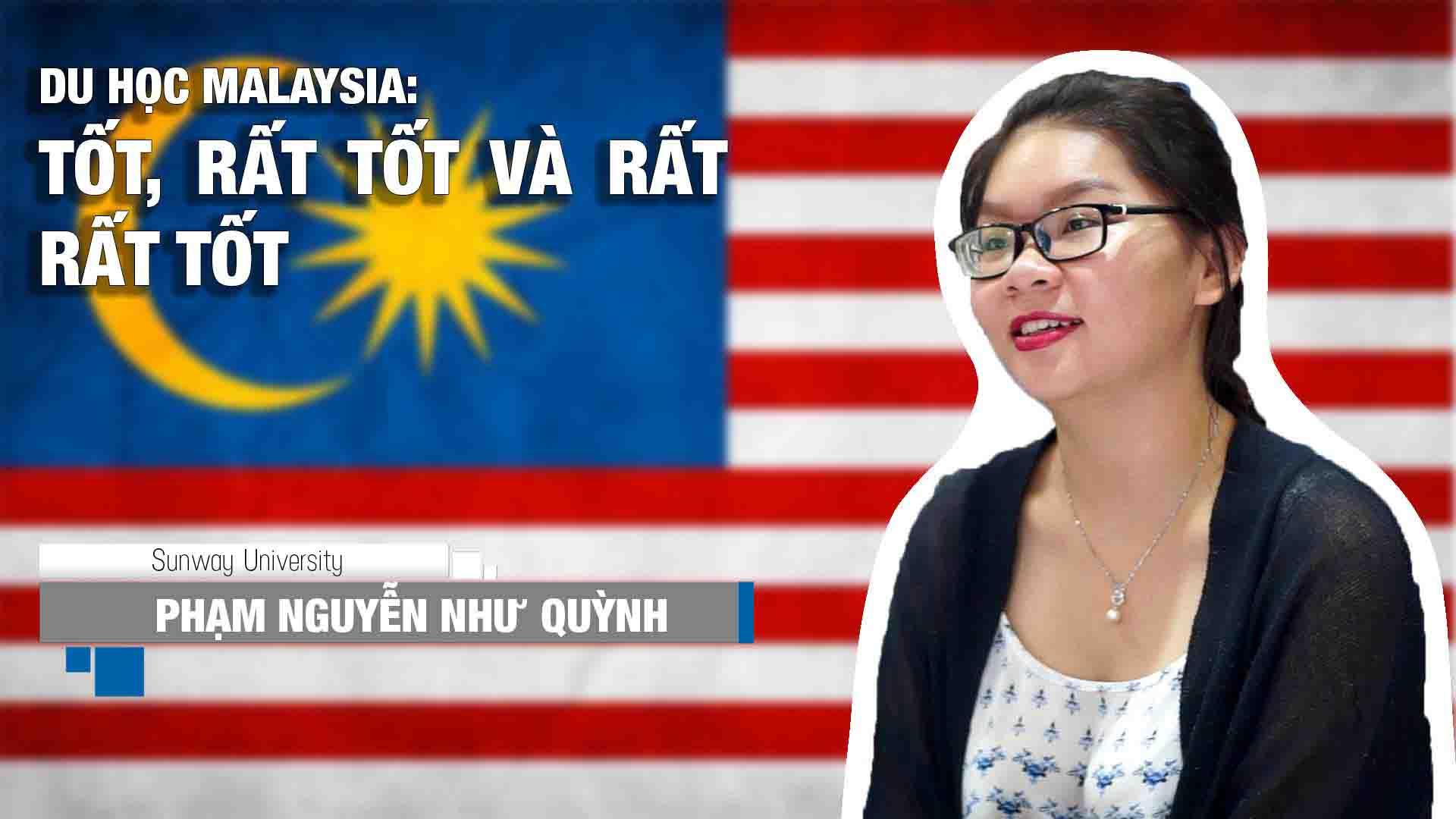 """Phạm Nguyễn Như Quỳnh là cựu học sinh trường THPT Nguyễn Thị Minh Khai (TP. HCM). Năm 2013, Như Quỳnh đạt học bổng 100% của trường Đại học Sunway Malaysia. Hiện tại, em đang là sinh viên ngành Tài chính Kế toán của trường. Thời gian này, Như Quỳnh đang trải nghiệm kỳ thực tập 3 tháng (từ 21/12/2015 đến 11/3/2016) tại Công ty KPMG Malaysia - một trong """"Big Four"""": 4 công ty kiểm toán lớn nhất thế giới (gồm Deloitte, Ernst & Young, KPMG và PwC).  Chương trình Tài chính - Kế toán tại Đại học Sunway cung cấp cho sinh viên chương trình học được công nhận bởi Đại học Lancaster - Top 10 trường tốt nhất Vương Quốc Anh. Sau khi tốt nghiệp, sinh viên sẽ được nhận cùng lúc bằng cấp của trường ĐH Sunway và bằng chính quy của Đại học Lancaster. Xem thêm thông tin ĐH Sunway: http://duhocinec.com/du-hoc-malaysia-..."""