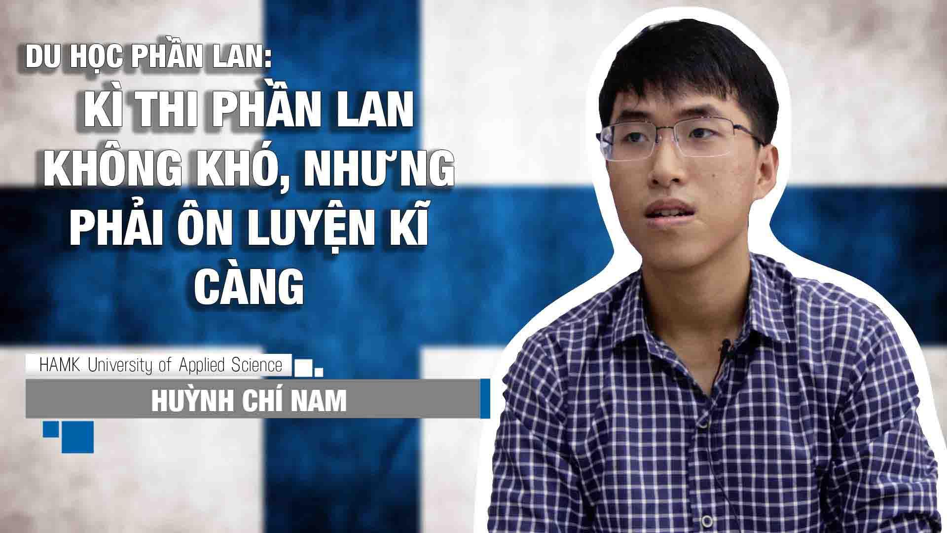 Chia sẻ của em Huỳnh Chí Nam, sinh viên ngành Kĩ sư điện tử và Tự động hóa tại Đại học HAMK Phần Lan. Chí Nam là một trong 115 sinh viên INEC đã xuất sắc vượt qua kì thi đầu vào cam go và đến với ngôi trường trong mơ trong kì nhập học tháng 9/2015.
