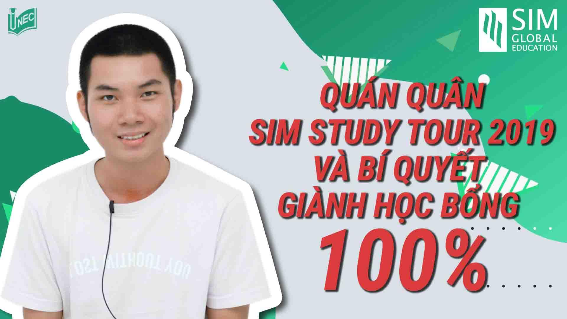 """SIM Study Tour là chương trình du học hè Singapore cho phép học sinh tuổi từ 15-17 trải nghiệm hành trình 7 ngày làm du học sinh và khám phá Singapore xinh đẹp. Để tham gia chương trình miễn phí, bạn có thể """"săn"""" học bổng 100% SIM Study Tour từ cuộc thi """"Viết essay, nhận ngay học bổng"""" do INEC - Đại diện tuyển sinh xuất sắc của SIM tổ chức. Nhằm giúp các bạn có sự chuẩn bị tốt nhất và tối đa hóa cơ hội học bổng, bạn Nguyễn Tấn Thành, quê Phú Yên, người đã xuất sắc giành được giải thưởng cao nhất chia sẻ về cuộc thi và bí quyết giành học bổng.   Ngoài ra, bạn cơ hội khác để sở hữu suất học bổng 100% SIM Study Tour 2020 khi tham dự SIM Open Day do Học viện SIM phối hợp với INEC tổ chức tới đây, lúc 9h Chủ nhật ngày 04/08/2019, tại Khách sạn Liberty Central Riverside Saigon, 17 Tôn Đức Thắng, Q. 1, TP. HCM. Tại đây, học sinh sẽ được lựa chọn ngầu nhiên, tham gia phỏng vấn với đại diện trường cho suất học bổng nêu trên. Đăng ký tham dự SIM Open Day qua hotline 093 409 8883. Mọi thắc mắc có thể liên hệ INEC để được tư vấn thêm. Công ty Du học INEC • Tổng đài: 1900 636 990 • Hotline KV miền Bắc và Nam: 093 409 3311 - 093 409 4411 • Hotline KV miền Trung: 093 409 9070  • Email: inec@inec.vn"""