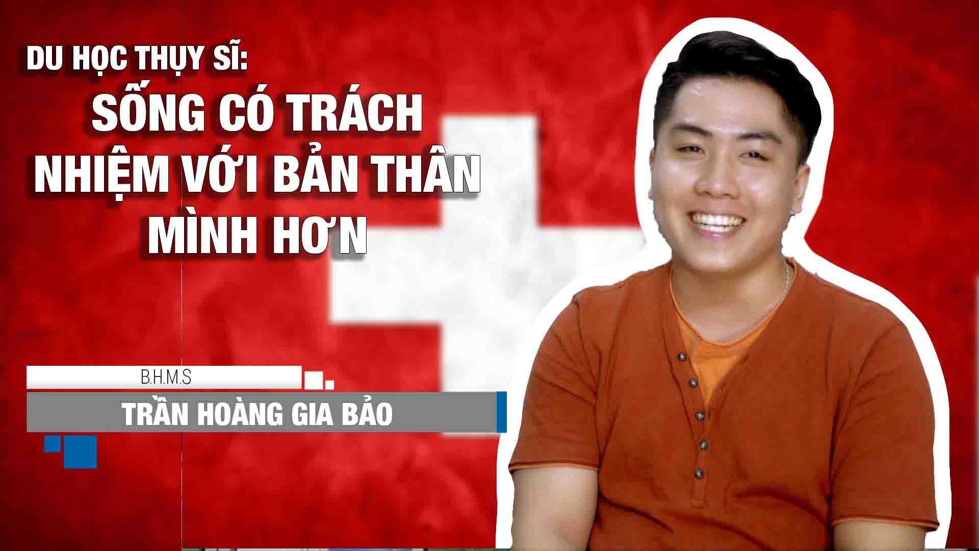 Trần Hoàng Gia Bảo là sinh viên của khóa Chứng chỉ Sau Đại học, nhập học trong khóa tháng 5/2016 của Học viện BHMS Thụy Sĩ.