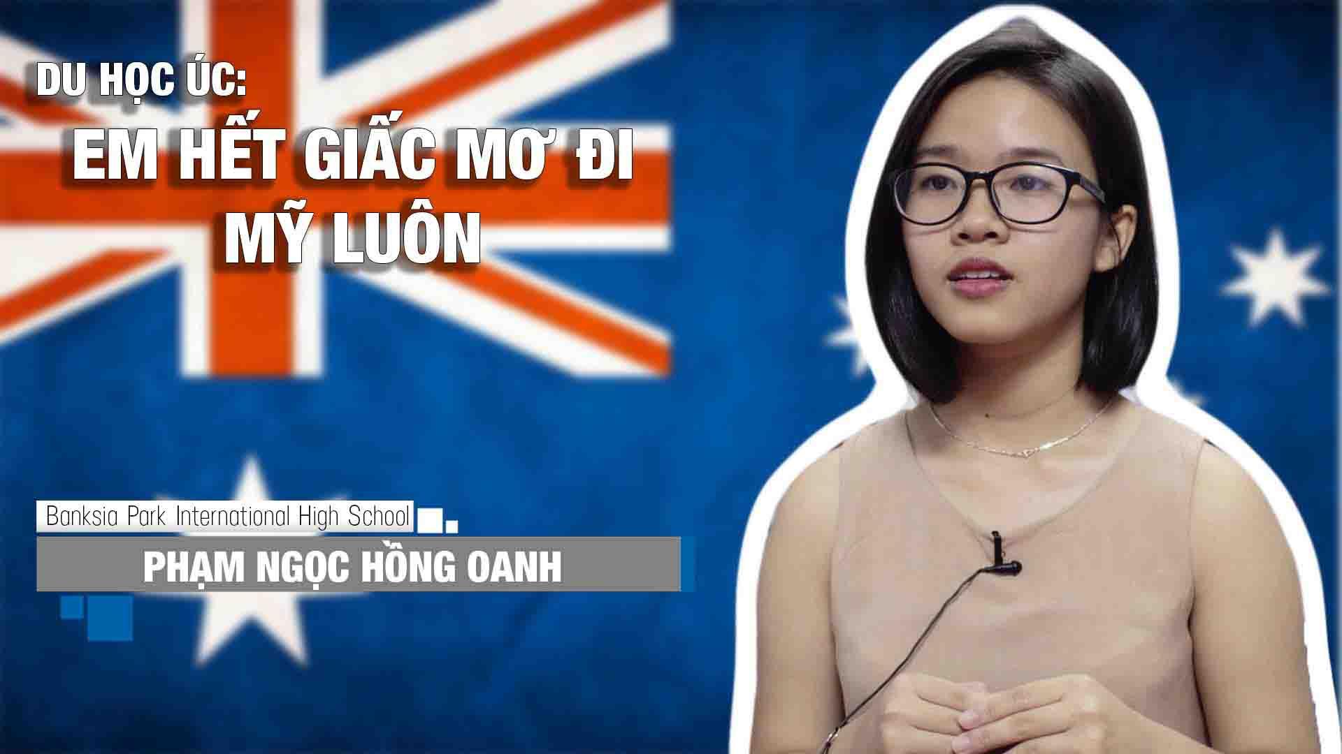 Cô gái xinh xắn đến từ thành phố biển Nha Trang (tỉnh Khánh Hòa) sắp sửa theo học lớp 10 tại Banksia Park International High School.