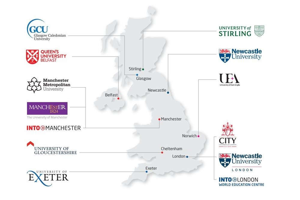 Hệ thống đại học đối tác của INTO Anh Quốc