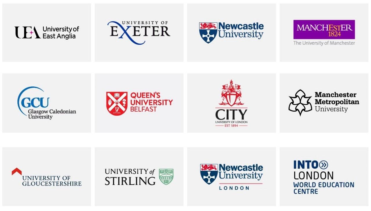 Hệ thống trung tâm học thuật của INTO tại Anh Quốc