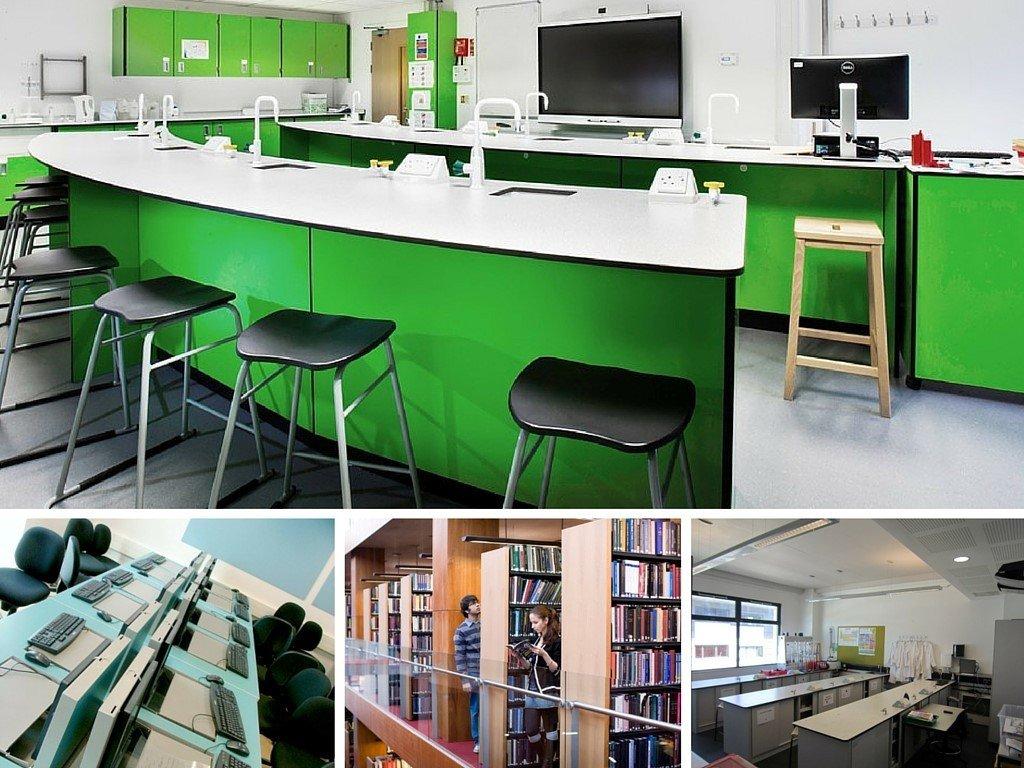 Cơ sở vật chất hiện đại của trường