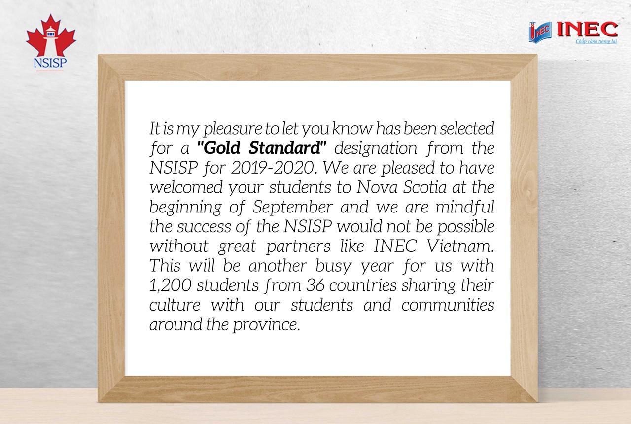 Hệ thống trung học Nova Scotia chúc mừng INEC
