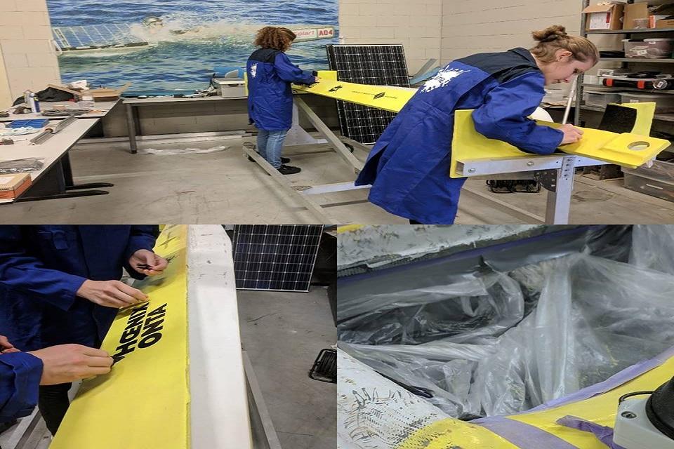 HAN SolarBoat Team chế tạo thân thuyền