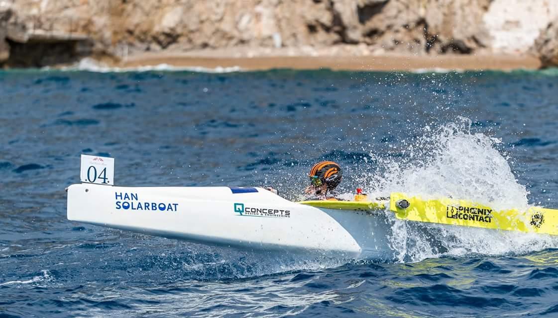 Thuyền năng lượng mặt trời của Đại học KHUD HAN tại cuộc đua ở Monaco