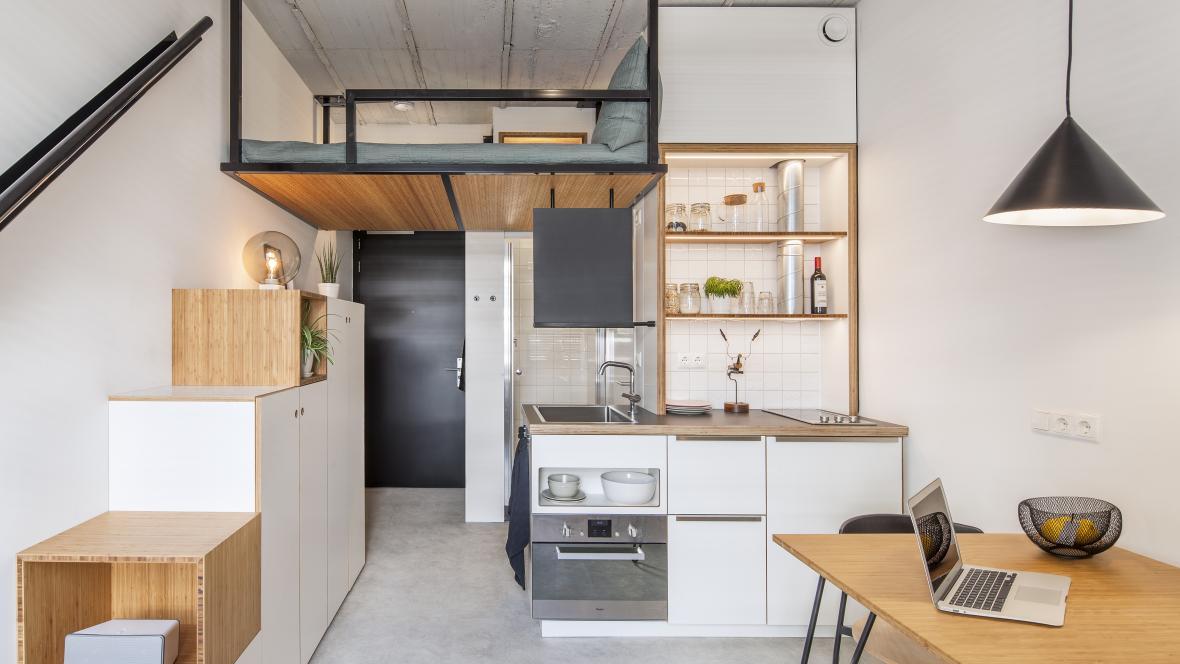 Một căn hộ sinh viên như thế này có giá thuê khoảng 635 euro/tháng
