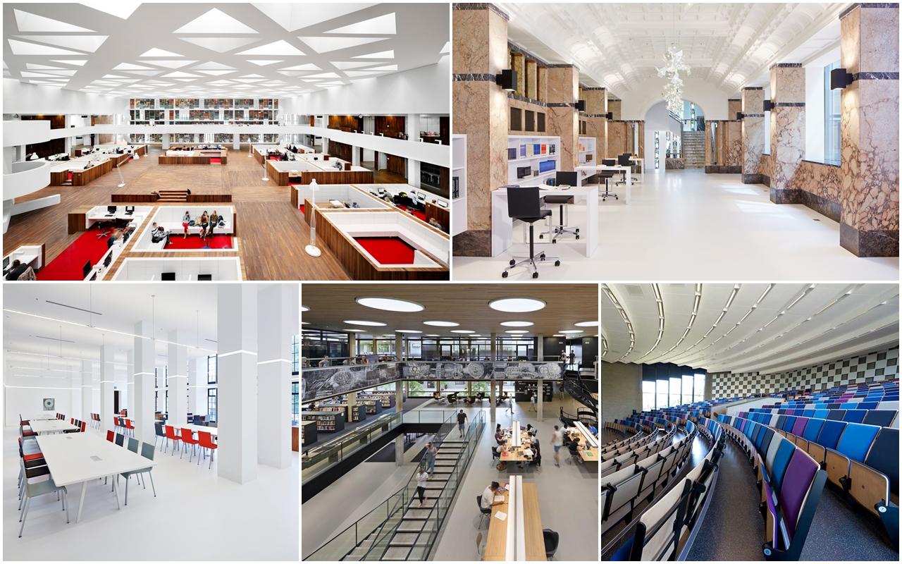Không gian bên trong Đại học Erasmus Rotterdam