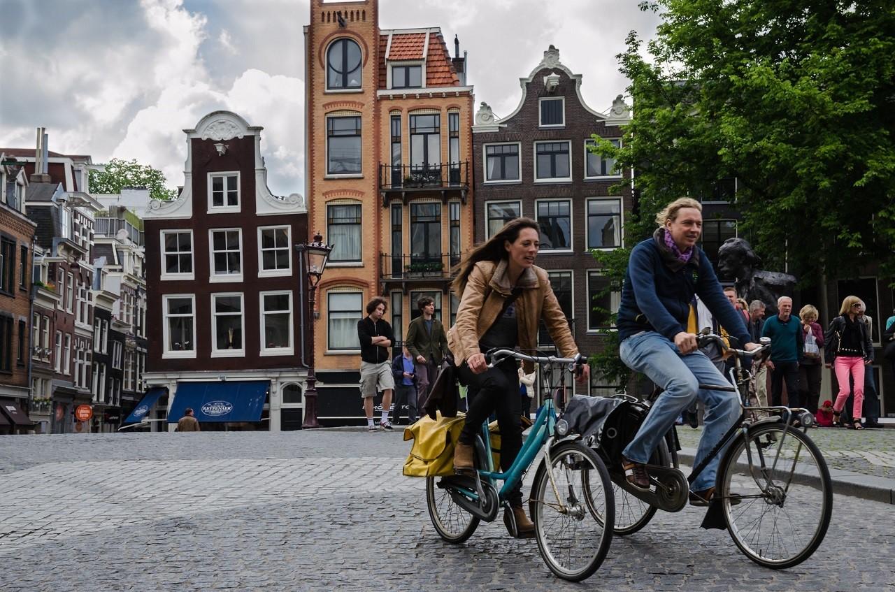 Xe đạp là phương tiện di chuyển phổ biến tại Hà Lan
