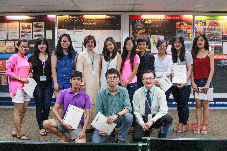 10 học sinh tại Việt Nam đã được du học INEC cùng đại học Sunway chọn tham gia hành trình học tập thử, trải nghiệm thật sự môi trường quốc tế tại Đại học Sunway Malaysia trong 1 tuần. Các bạn được thử làm sinh viên của ĐH Sunway, được học tập cùng với các sinh viên quốc tế đến từ rất nhiều nước trên thế giới đang học tập tại trường.