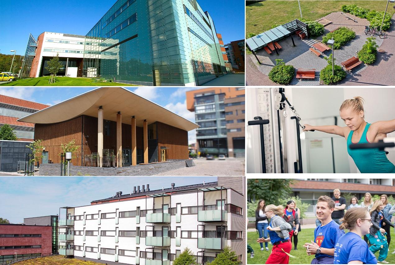Các công trình hiện đại của Đại học KHUD Arcada phục vụ tốt nhu cầu học tập và những hoạt động khác của sinh viên
