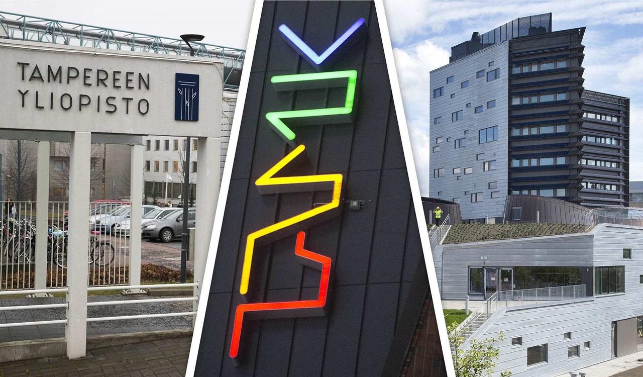 Tampere3 gồm 3 trường: Đại học Tampere, Đại học KHUD Tampere, Đại học Công nghệ Tampere