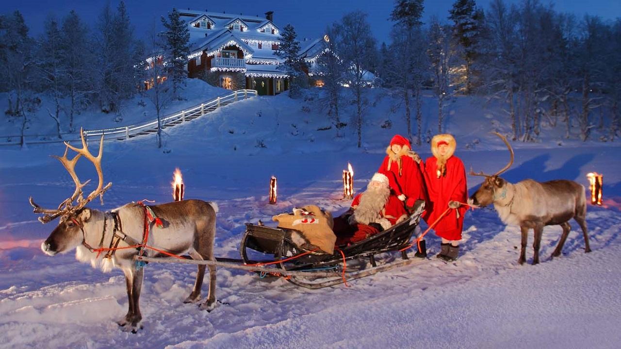 Lapland được xem là quê hương của ông già tuyết