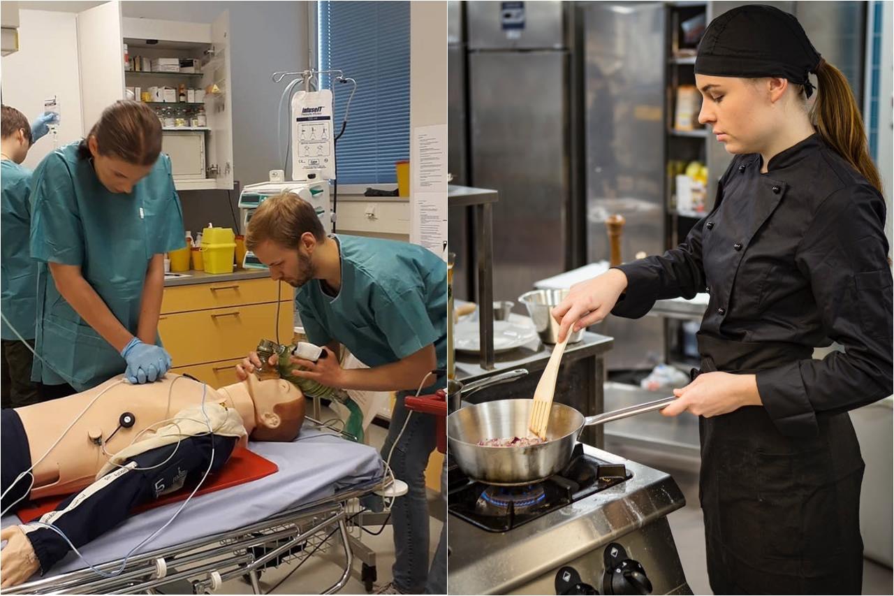 Sinh viên tiếp cận thực tiễn ngành nghề trong thời gian học tập tại Đại học KHUD Saimaa