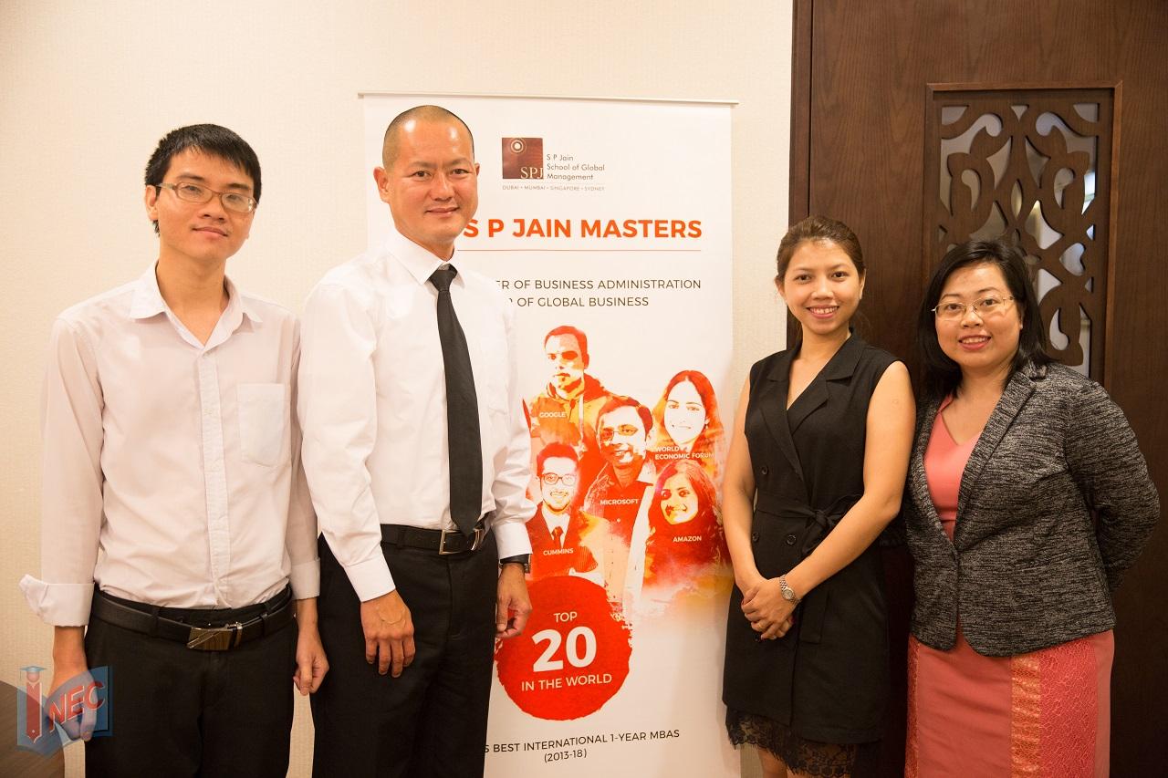 Là đại diện tuyển sinh chính thức của S P Jain tại Việt Nam, INEC thường xuyên tổ chức các sự kiện bổ ích dành cho HSSV Việt Nam muốn tìm hiểu thông tin và nộp hồ sơ vào trường