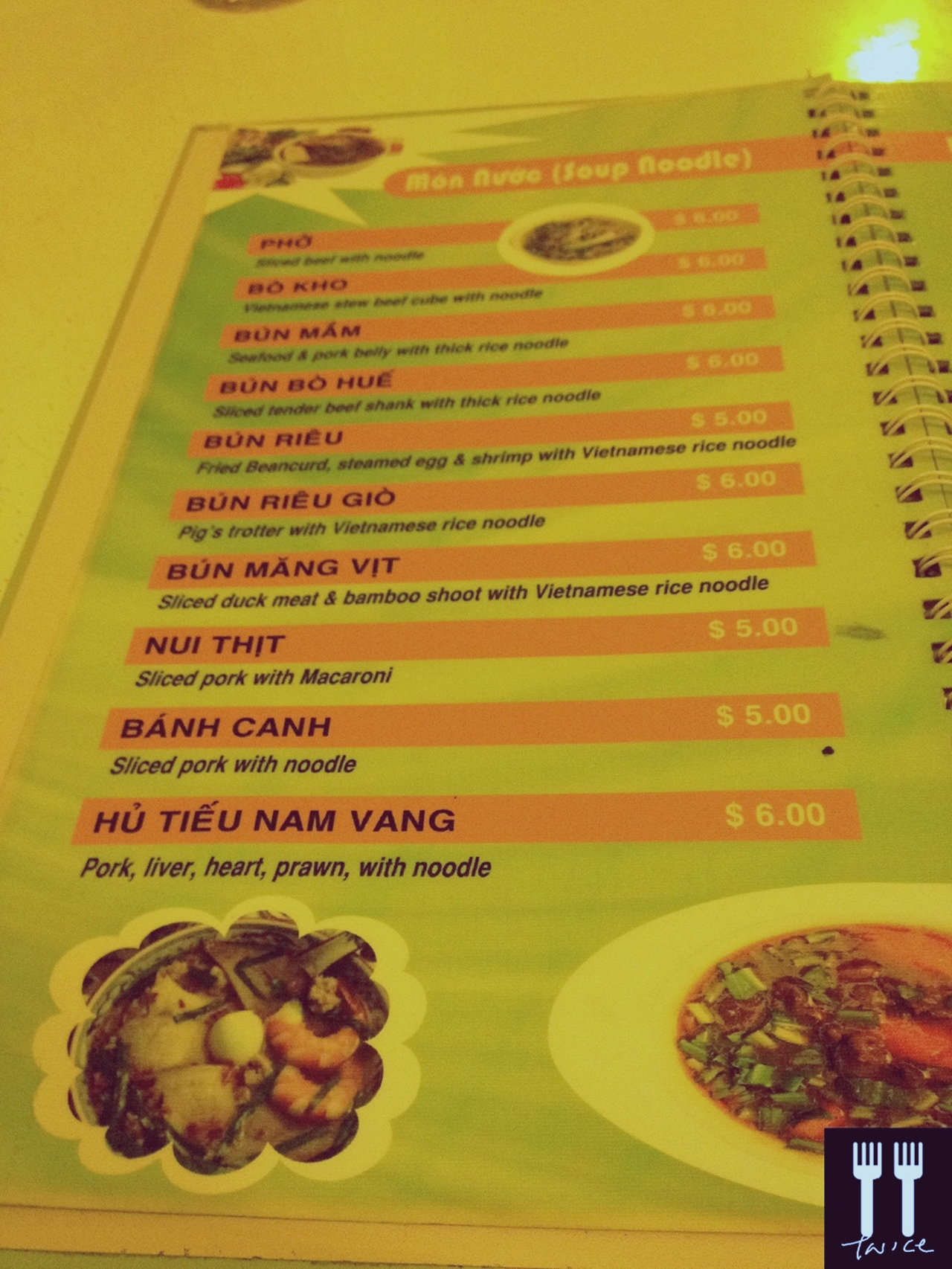 Little Vietnam - Menu