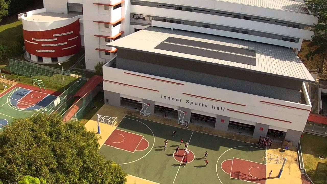 Khu vực thể thao ngoài trời của trường National Junior College