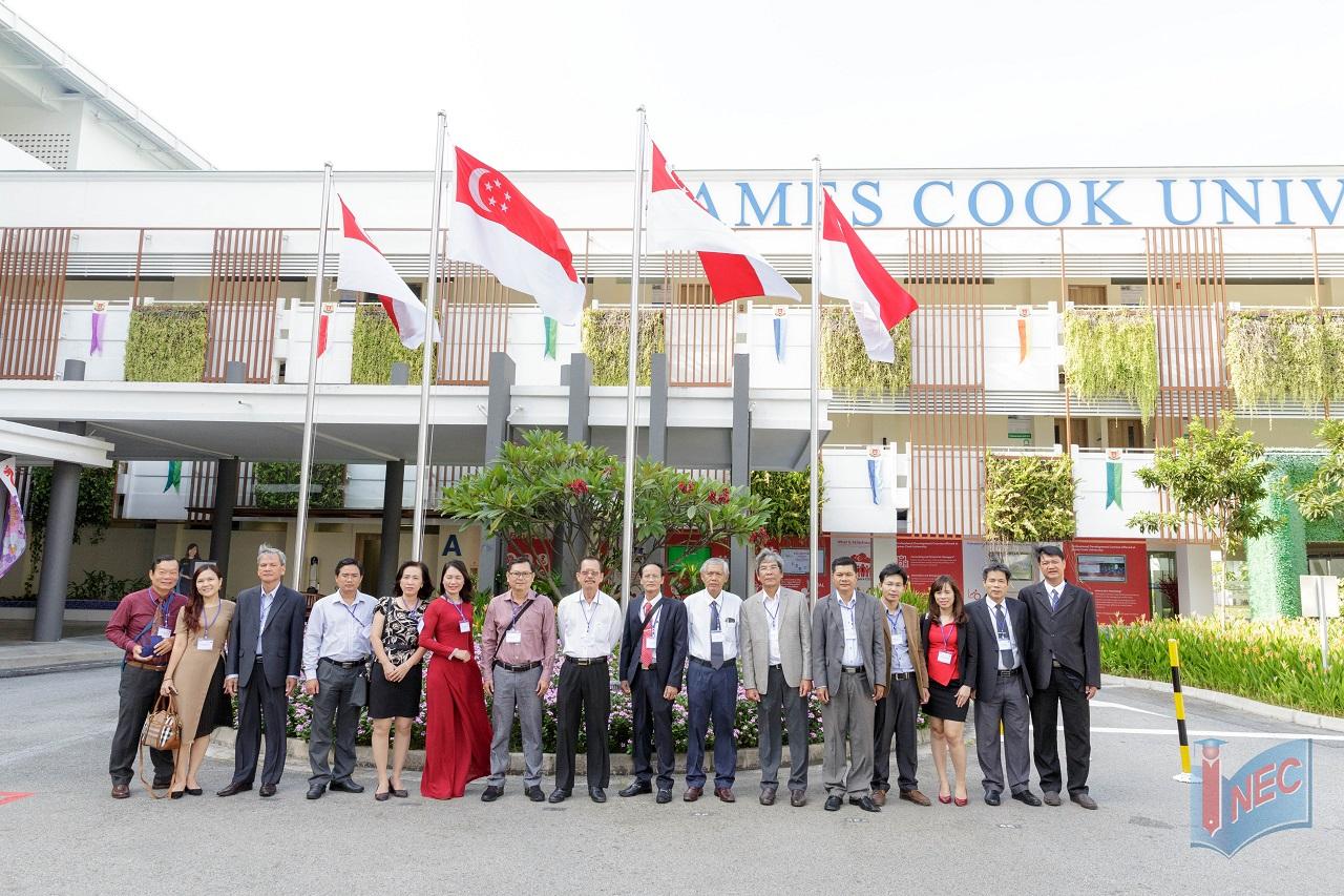 Du học INEC dẫn phái đoàn đại biểu ban giám hiệu các trường THPT chuyên của Việt Nam thăm quan Đại học JCU Singapore