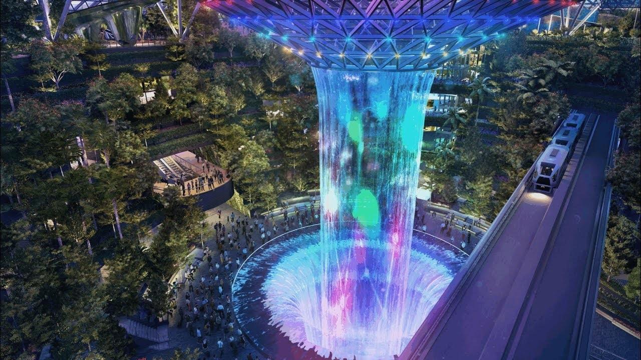 """""""Thác trời"""" huyền ảo tại khu phức hợp Jewel của sân bay Changi"""