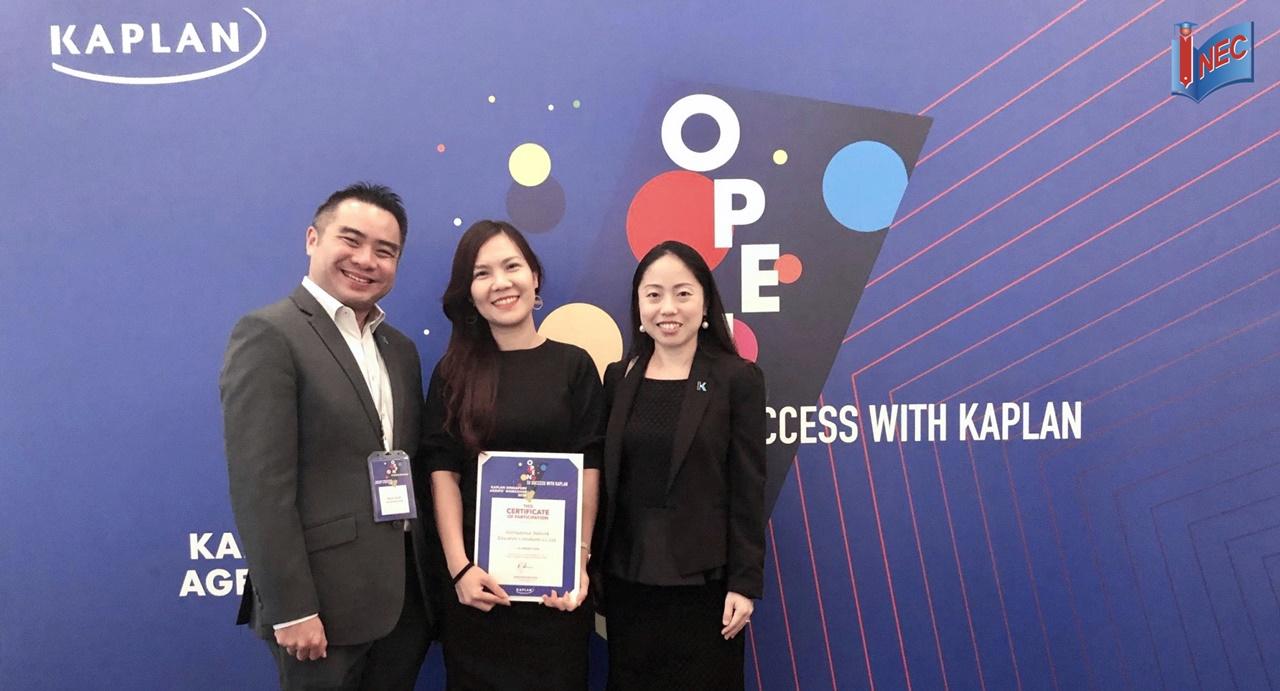 Du học INEC nhận giải Elite Partner 2020 của Học viện Kaplan Singapore