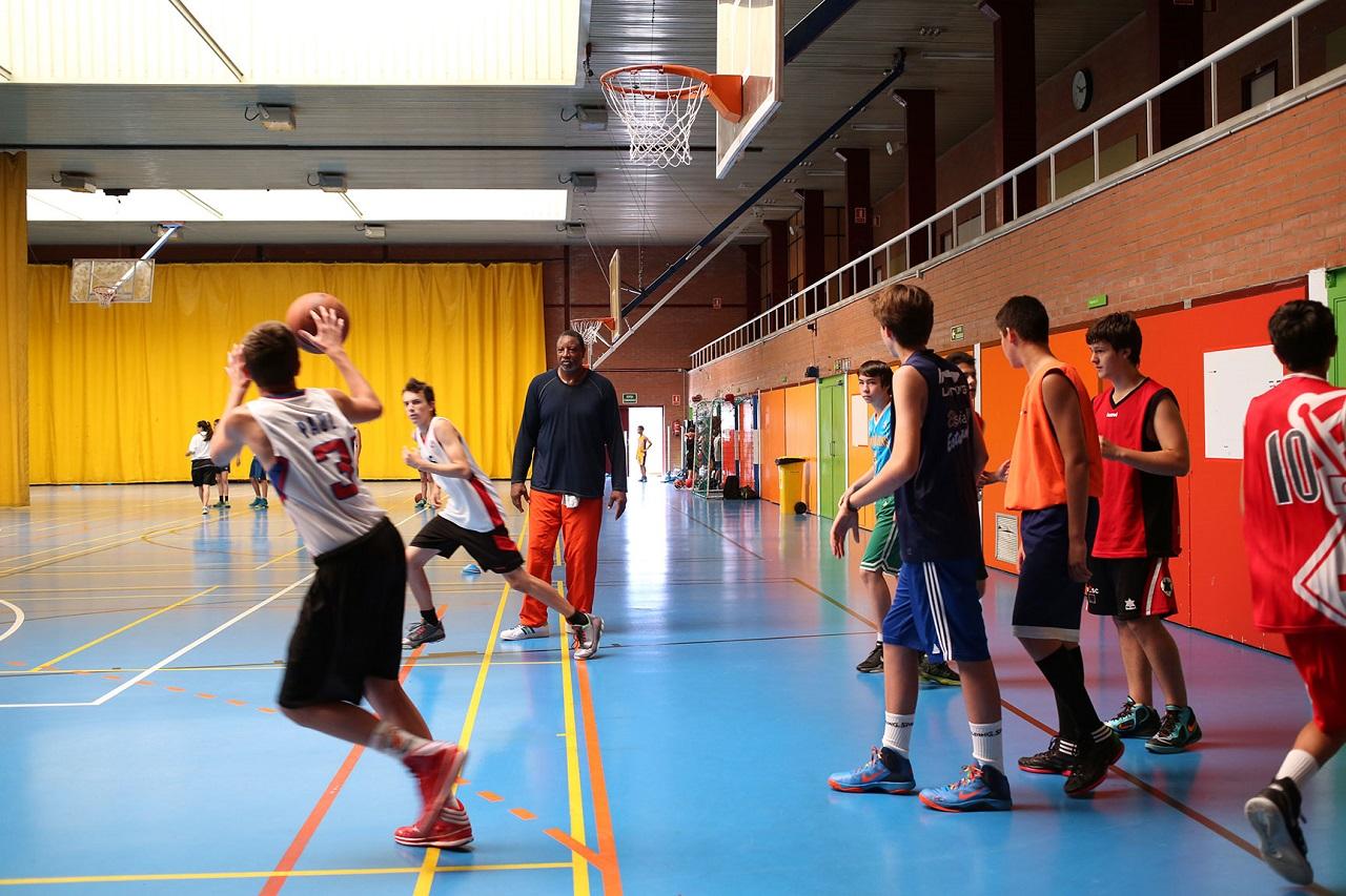 Một góc trung tâm thể thao của Đại học Autonomous of Barcelona