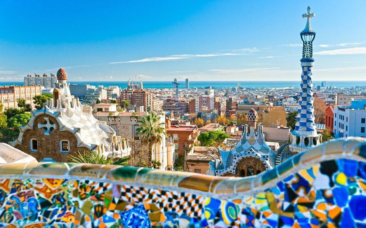 Phong cảnh thủ đô Bacerlona của Tây Ban Nha