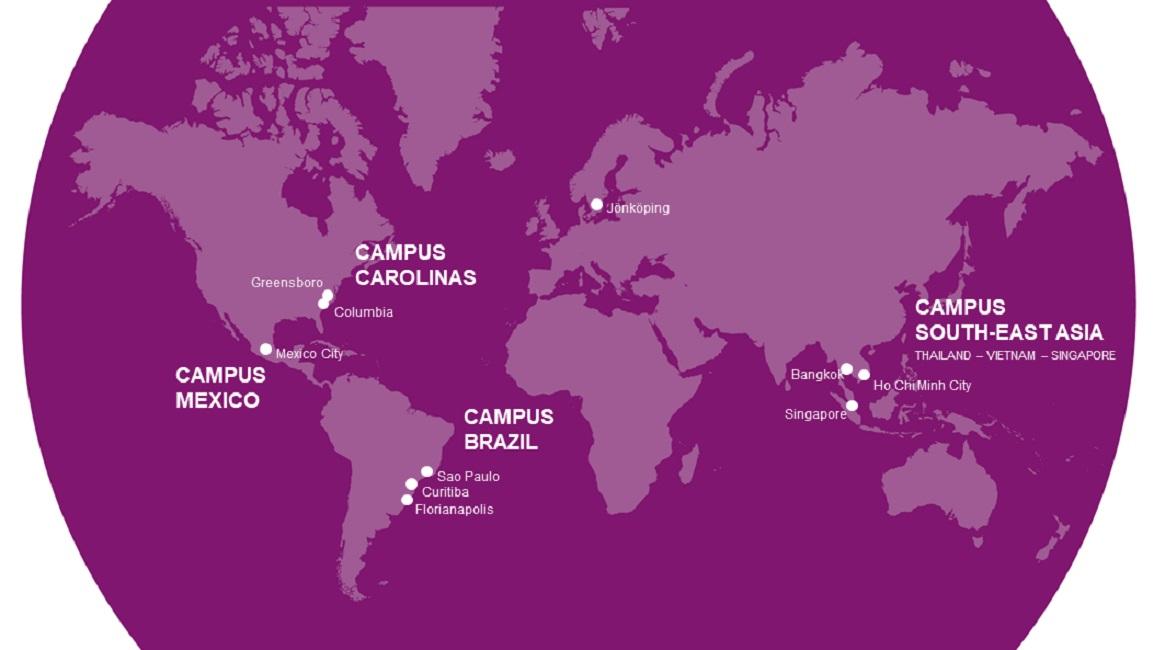 Mạng lưới khu học xá quốc tế của Đại học Jonkoping tạo điều kiện cho sinh viên nghiên cứu học thuật và thực tập tại các khu vực giàu tiềm năng