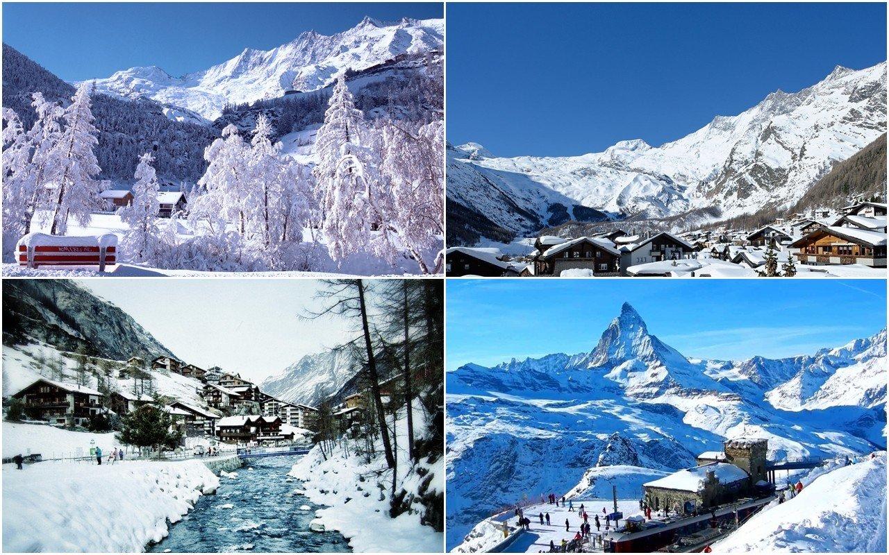 Hai khu nghỉ dưỡng trượt tuyết tuyệt đẹp Saas-Fee và Zermatt