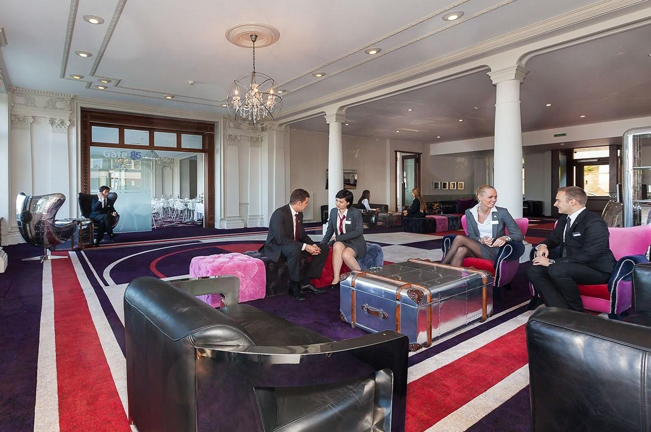 Bên trong khu học xá của Học viện Khách sạn Montreux (HIM) tại Hotel Europe