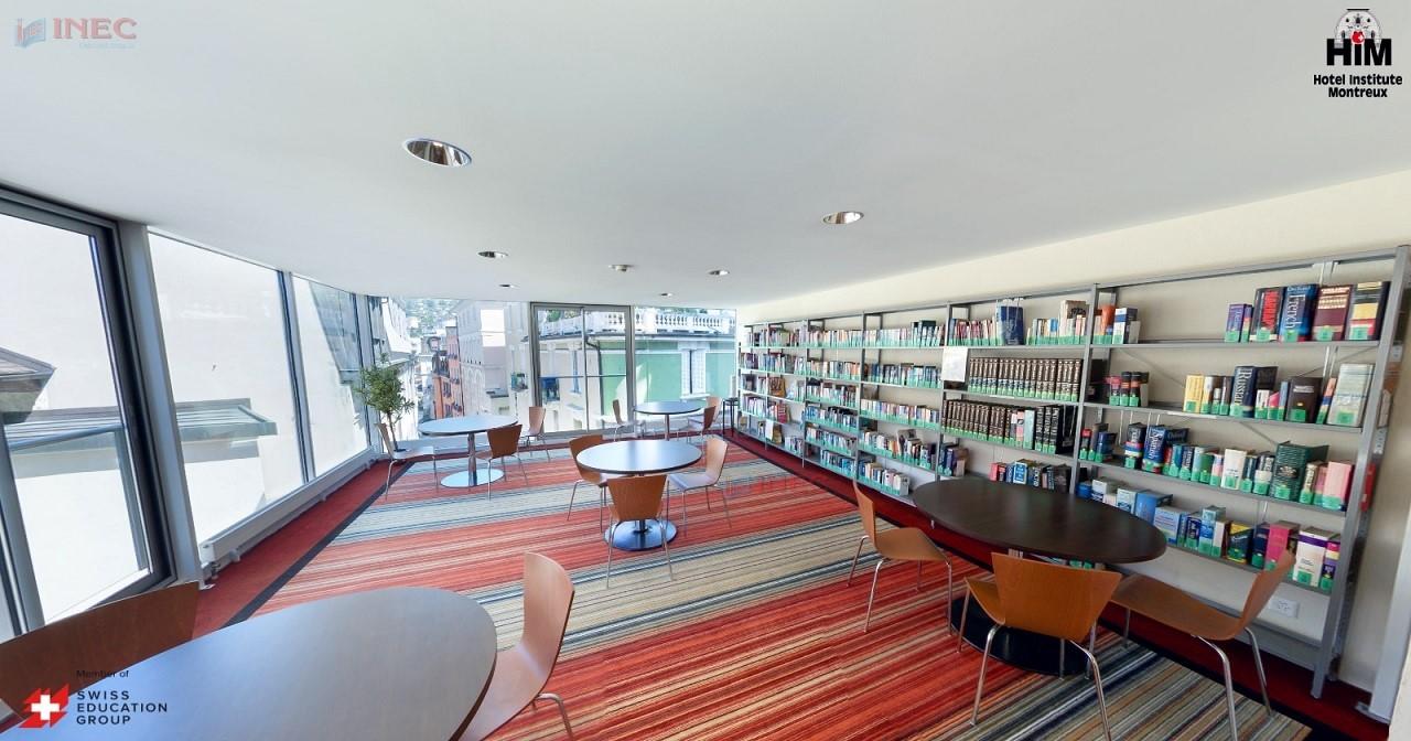 Một góc học tập bên trong trường HIM. Ảnh: Hotel Institute Montreux