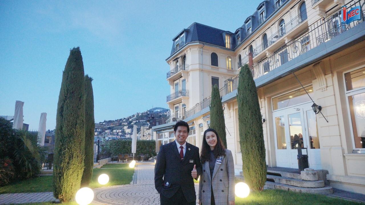 INEC thăm sinh viên Huỳnh Lê Quốc Bảo đang học tại trường HIM Thụy Sĩ