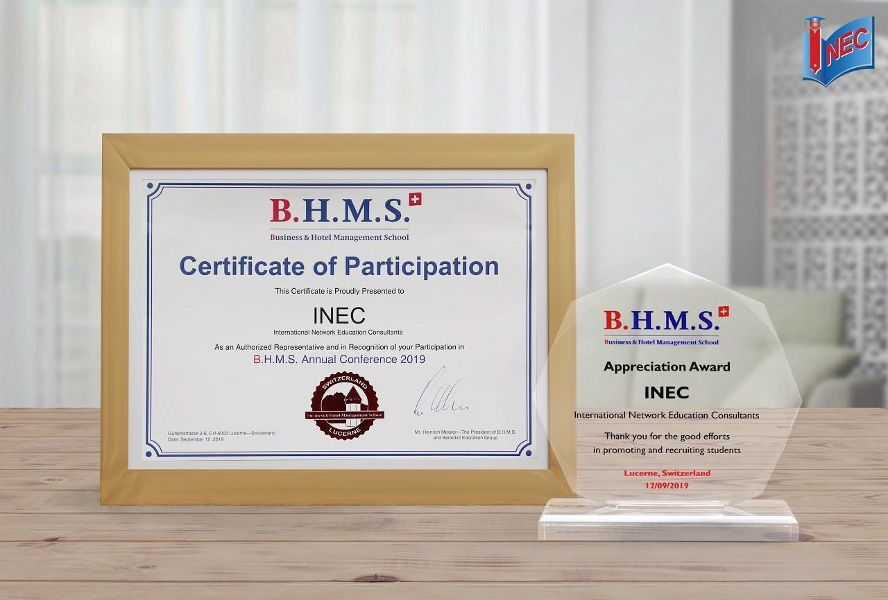 Giải thưởng này phần nào thể hiện uy tín và chất lượng dịch vụ tư vấn, hỗ trợ du học Thụy Sĩ của INEC
