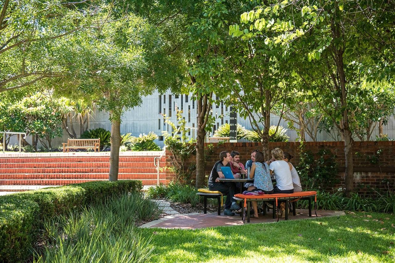 Khu học xá của Curtin được thiết kế mở, gần gũi với thiên nhiên