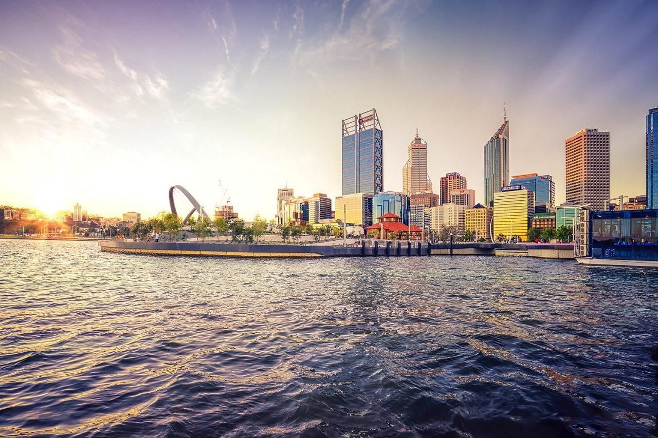 Thành phố Perth nổi tiếng bởi sự bình yên, chi phí du học Úc  thấp