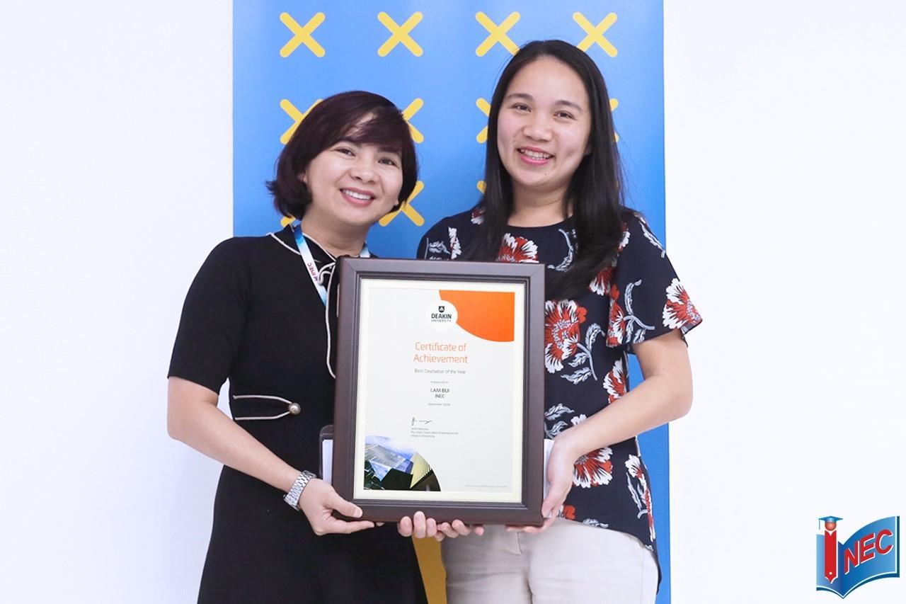 Giải thưởng tư vấn tốt nhất - Best Counsellor of The Year 2018
