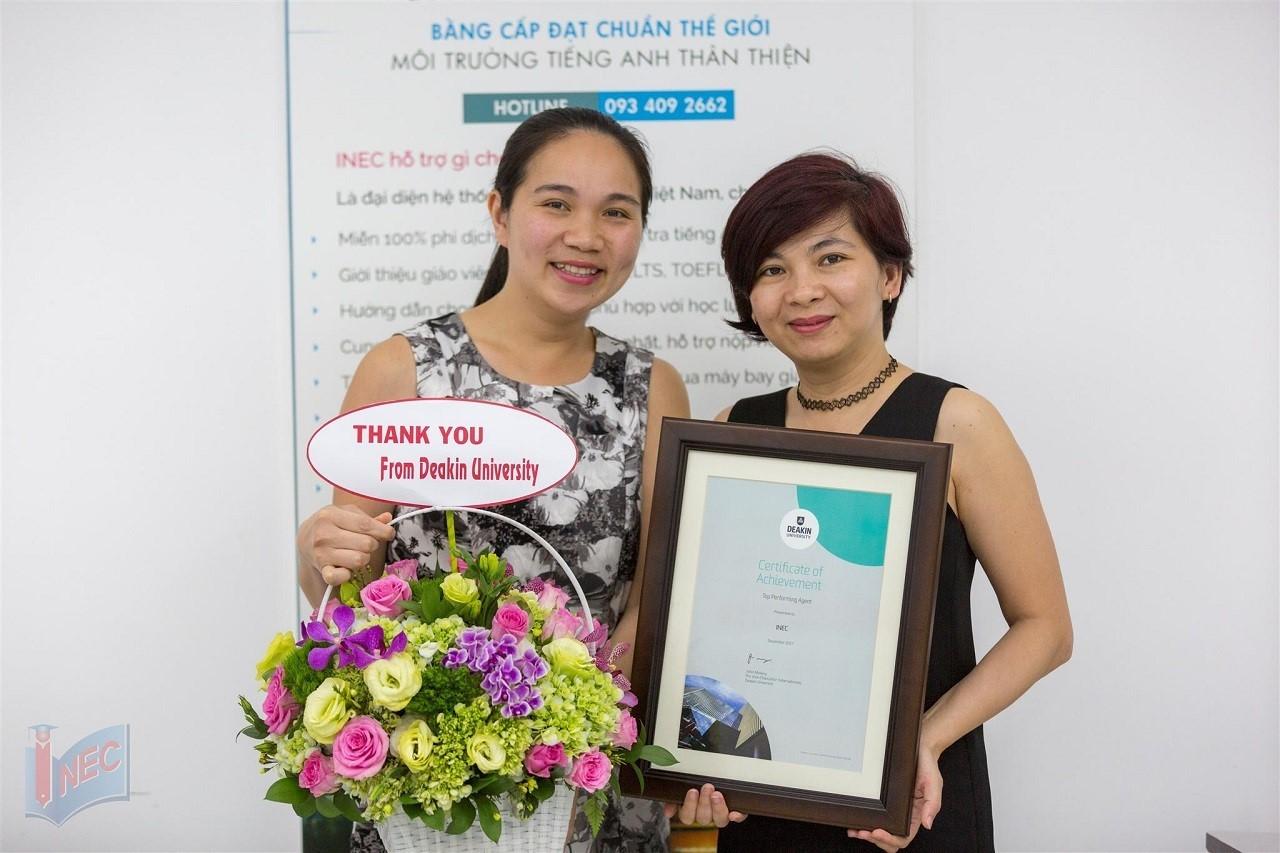 Du học INEC - Top đại diện tuyển sinh tốt nhất của Đại học Deakin tại Việt Nam