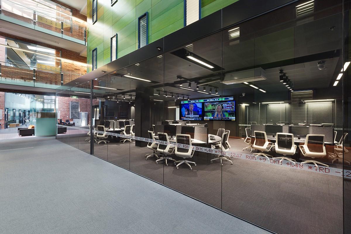 Một phòng phân tích tài chính, kinh doanh ở Deakin