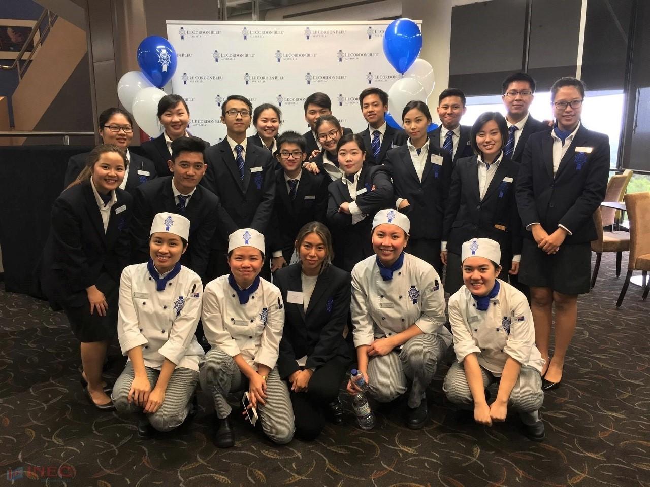 Mai Nguyễn Hoàng Long - Học sinh INEC đang thực tập tại Khách sạn Shangri-La Úc