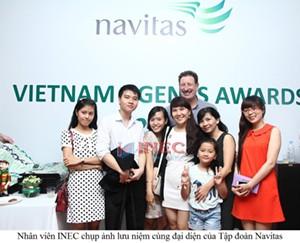 """INEC """"bội thu"""" giải thưởng về du học 2013/2014 trong đêm Gala Navitas"""