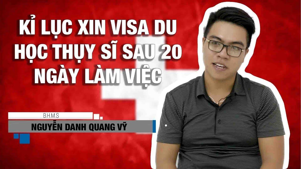 Du học sinh Thụy Sĩ tại trường BHMS: bạn Nguyễn Danh Quang Vỹ