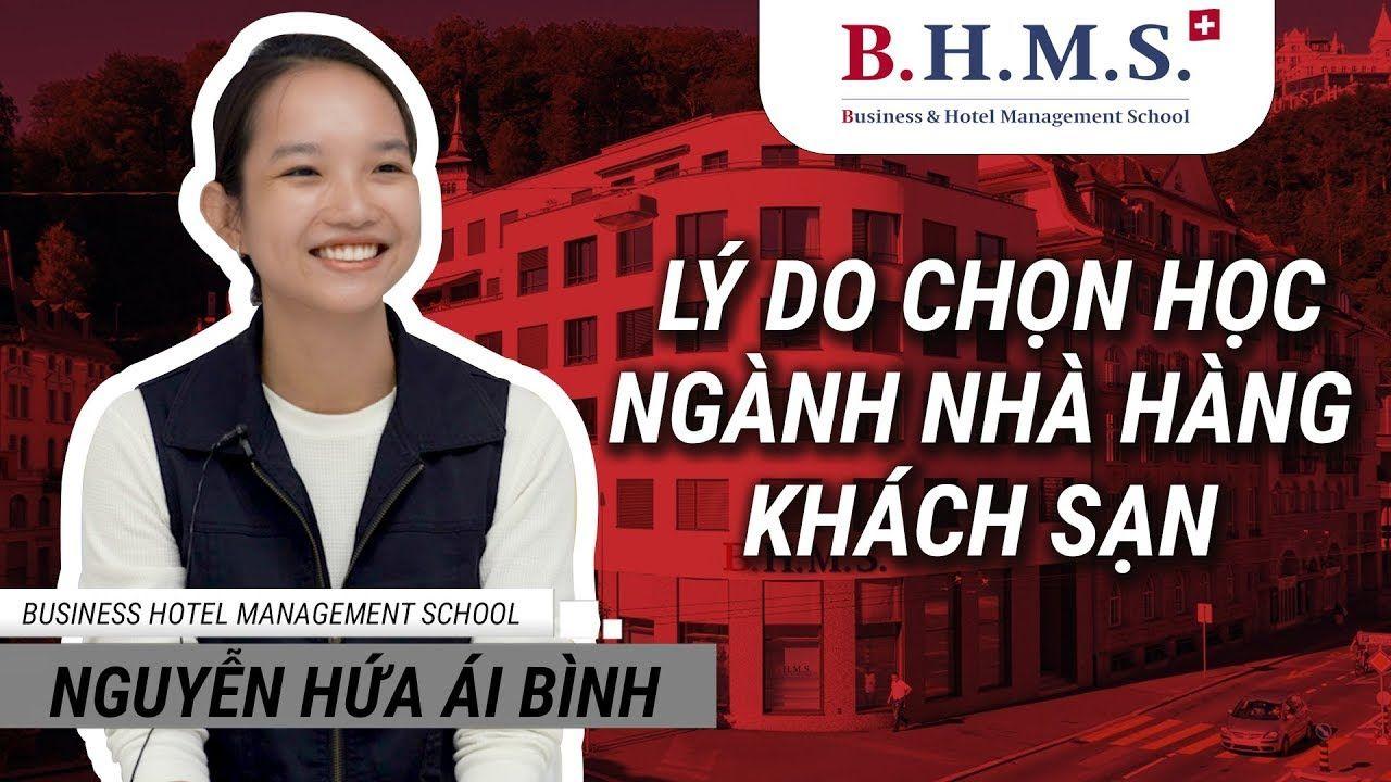 Du học sinh Thụy Sĩ tại trường BHMS: bạn Nguyễn Hứa Ái Bình