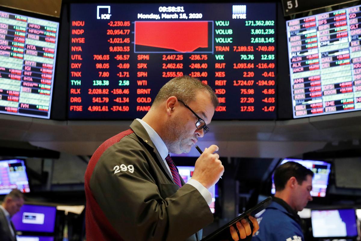 Sắc đỏ bao trùm nhiều thị trường chứng khoán dưới tác động tiêu cực của đại dịch Covid-19