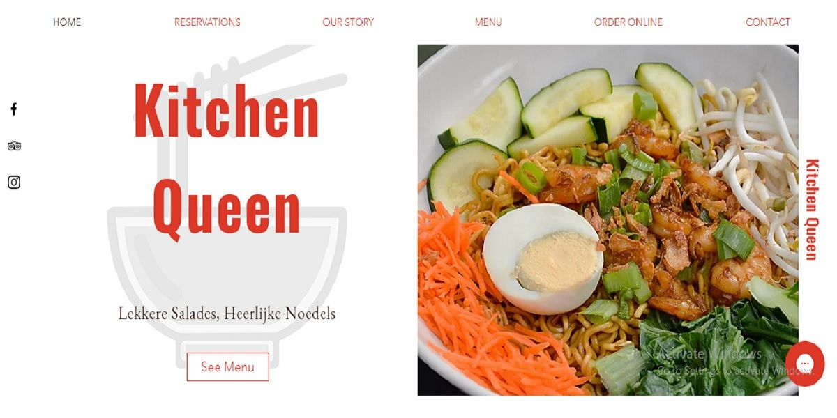 Website kinh doanh của Ian