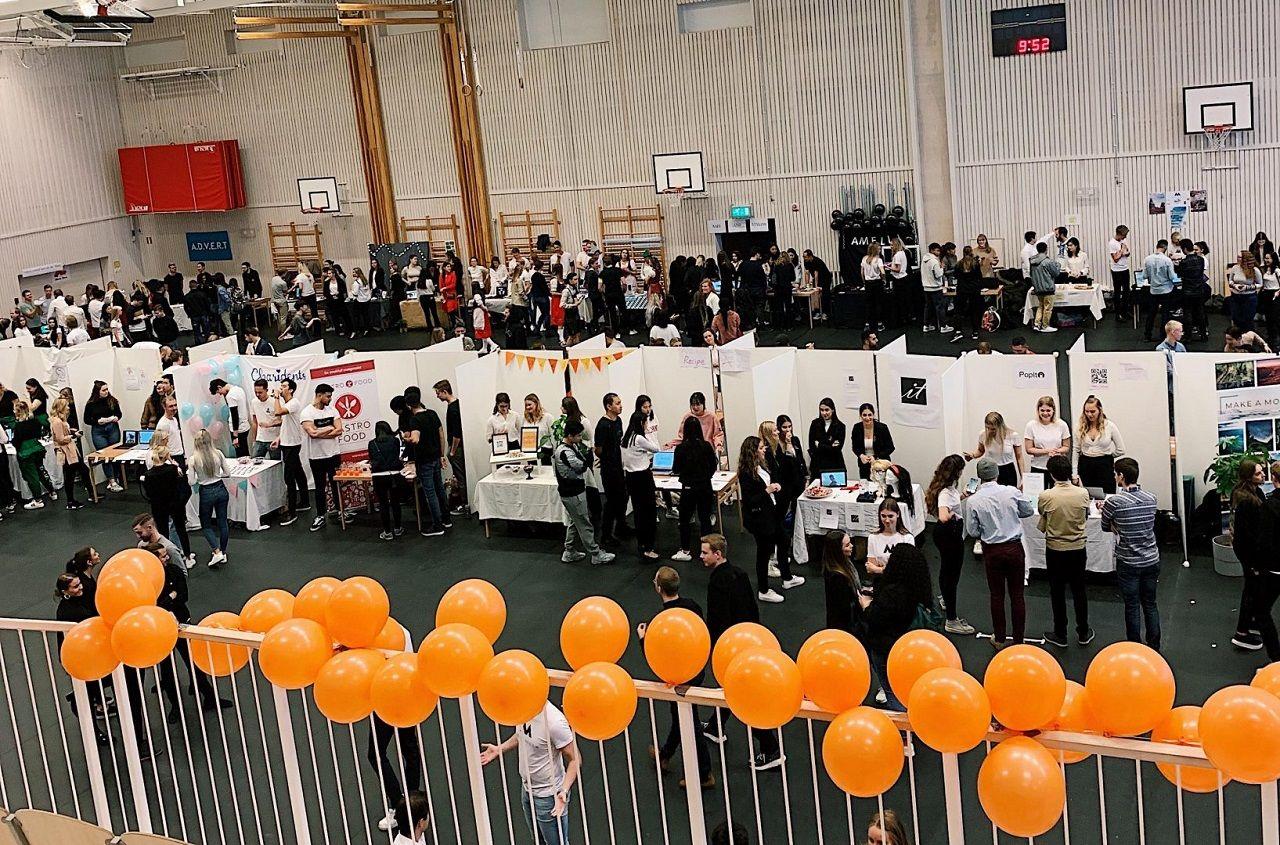 Một hoạt động ngày hội việc làm do Đại học Jonkoping tổ chức, phối hợp với các công ty tại Thụy Điển