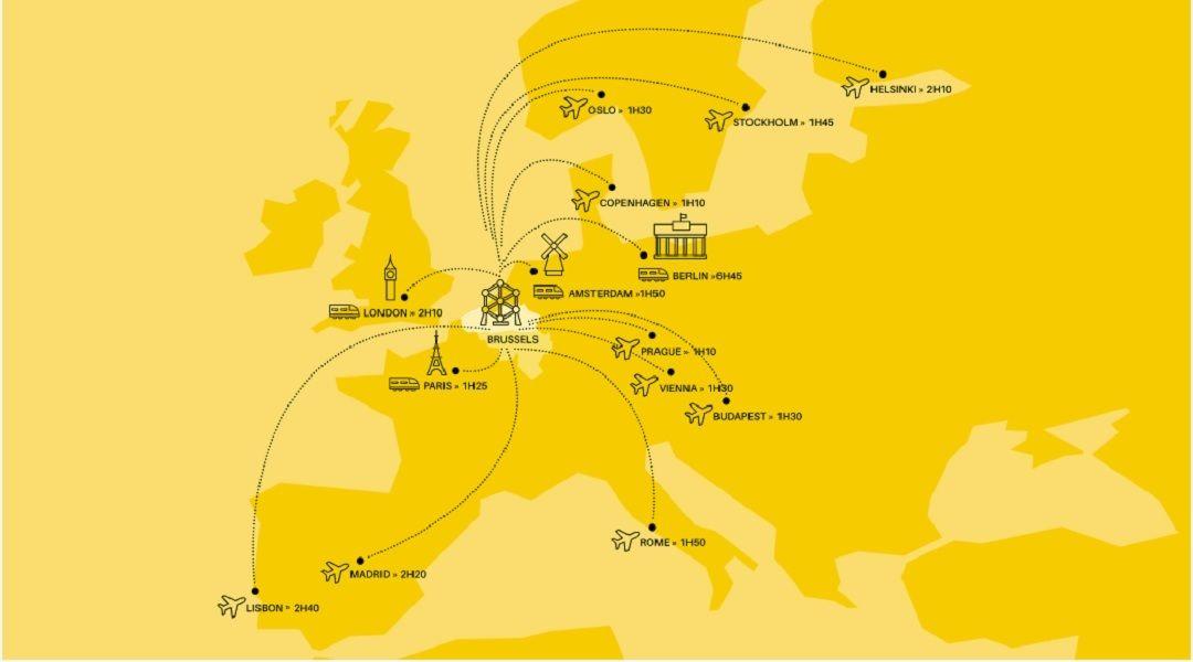 Từ Brussels Bỉ, dễ dàng đến thăm các thành phố hấp dẫn khác của châu Âu trong thời gian ngắn