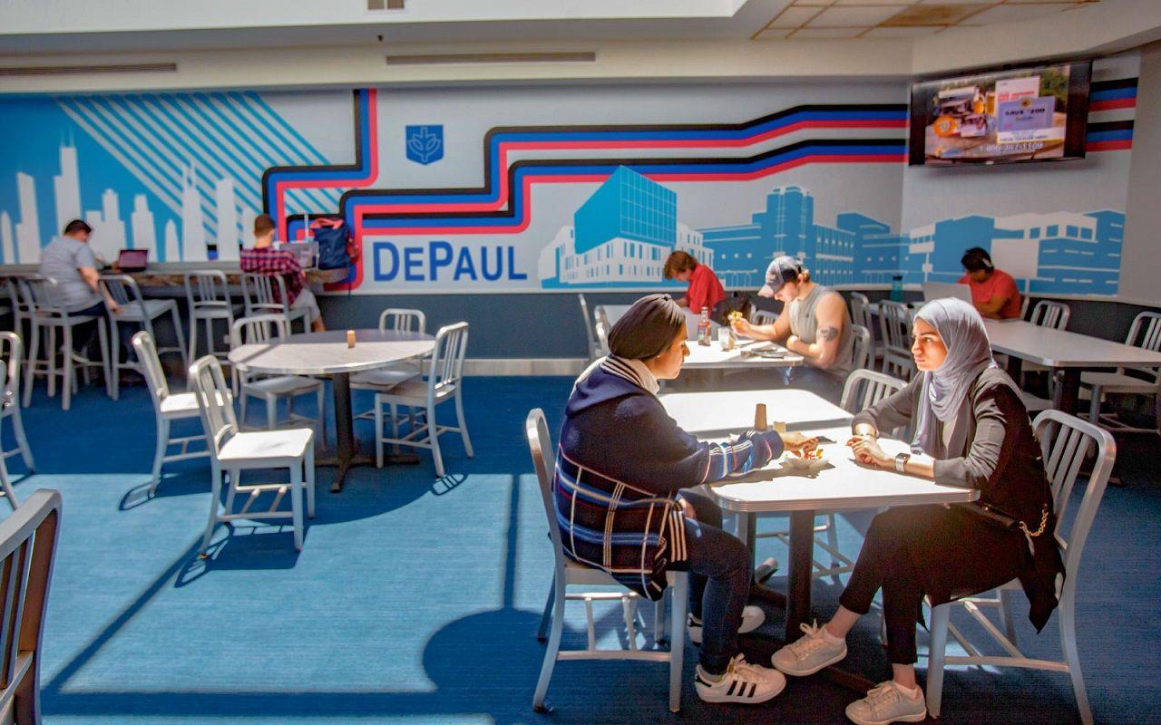 Một khu tự học của sinh viên Đại học DePaul